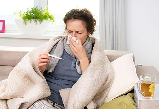 Gripa, obolenje dihal